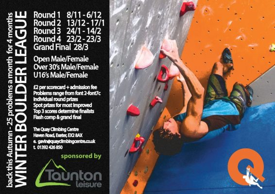 The Winter Boulder League is back…