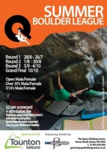 Summer Boulder League 2015 begins this week!